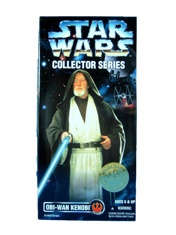 "1997 Star Wars POTF2 12"" OBI-WAN KENOBI Sealed"